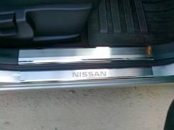 Накладка на порог. Nissan Tiida, C11, SC11