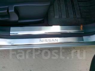 Накладка на порог. Nissan Tiida, C11, SC11X, SC11, C11X