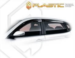 Ветровики дверей Classic полупрозрачный Hyundai Solaris хетчбэк 2011-2013