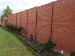 Двухсторонний бетонный забор под кирпич