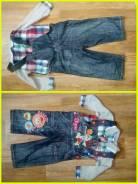 Рубашки джинсовые. Рост: 74-80, 80-86 см