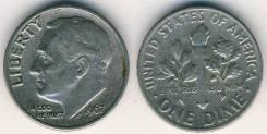 1 дайм 1967 год. США.