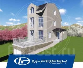 M-fresh Flex (Проект 2-этажного узкого дома! Посмотрите! ). 100-200 кв. м., 2 этажа, 3 комнаты, бетон