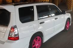 Накладка на порог. Subaru Forester, SG. Под заказ
