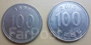 100 вон. Южная Корея.