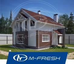 M-fresh Kam!l`fo (Свежий проект 1-этажного дома с жилой мансардой! ). 100-200 кв. м., 1 этаж, 4 комнаты, бетон