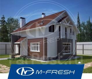 M-fresh Kam!l`fo-зеркальный (Посмотрите проект небольшого дома! ). 100-200 кв. м., 1 этаж, 4 комнаты, бетон
