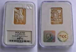 Польша 10 злотых 2009. Серебро. Пруф. Гусар XVII века, Слаб. ECC PR70