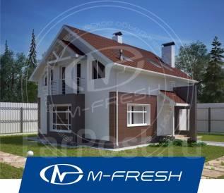 M-fresh Kam!l`fo (Свежий проект 1-этажного дома с мансардой! ). 100-200 кв. м., 1 этаж, 4 комнаты, бетон