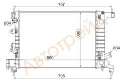 Радиатор CHEVROLET AVEO 1.2/1.4 11- SAT ОЕМ SG-CV0011
