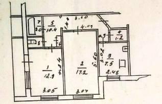 2-комнатная, с.Бычиха Новая. Пригород, агентство, 53 кв.м.