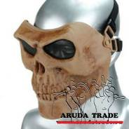 Тактическая маска Череп Воина (Скелетон) - Песочный (Оригинал)