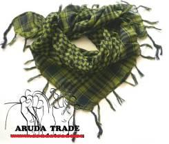 Платок-Арафатка (Шемаг, шемах) черно-зеленый