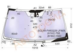 Стекло лобовое с обогревом щеток в клей TOYOTA LAND CRUISER PRADO/LEXUS GX460 2009- XYG SOLAR-FW03229 LFW/H/X