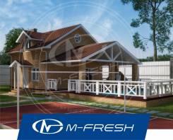 M-fresh Miranda-зеркальный (Проект бани с мансардой). 100-200 кв. м., 1 этаж, 3 комнаты, бетон