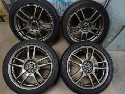 Диски RAYS United Arrows WR R17+лето215/45R17. 7.0x17 5x100.00, 5x114.30 ET52