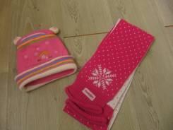 Шапка и шарф. Рост: 98-104, 104-110, 110-116, 116-122 см