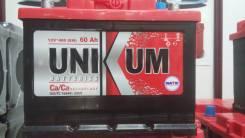 Unikum. 60 А.ч., левое крепление, производство Россия