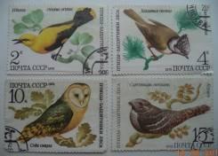 Марки - Птицы Защитники Леса, СССР 1979