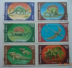Болгария - Динозавры - 6 марок 1990г.
