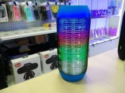 PULSE колонка bluetooth с поддержкой micro sd и пульсацией света в такт музыки, синий