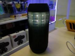 PULSE колонка bluetooth с поддержкой micro sd и пульсацией света в такт музыки, черный