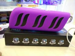 Колонка bluetooth с встроенным Power Bank 5200mAh, фиолетовый