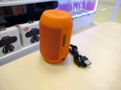 Мини-колонка AIBIMY с поддержкой micro sd и пульсирующим в такт музыки светом, оранжевый