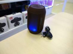 Мини-колонка AIBIMY с поддержкой micro sd и пульсирующим в такт музыки светом, черный