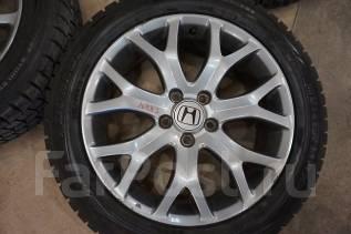 215/55R18 Зимние шины с литыми дисками Honda. Без пробега по РФ. 7.0x18 5x114.30 ET55 ЦО 64,0мм.
