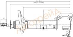 Стойка задняя TOYOTA CARINA/CALDINA/CORONA 92-02 4WD RH SAT ST-48530-29715