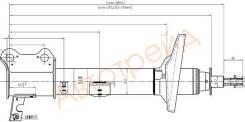 Стойка задняя TOYOTA CARINA/CALDINA/CORONA 92-02 4WD LH SAT ST-48540-29275