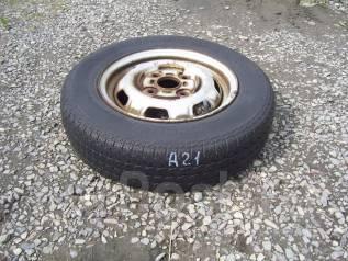 Одна летняя шина с диском 155SR R-13. x13 4x114.30 ЦО 60,0мм.
