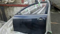Дверь L перед. Nissan Almera G15 13< б/у черная в сборе