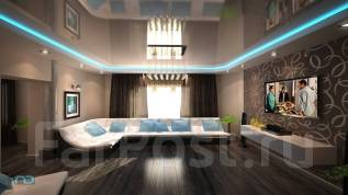Натяжной потолок в гостиную. Тип объекта квартира, комната, срок выполнения неделя