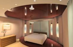 Натяжной потолок в спалью. Тип объекта квартира, комната, срок выполнения неделя