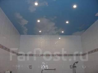 Натяжной потолок в санузел. Тип объекта санузел, срок выполнения неделя