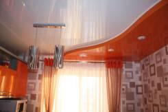 Натяжной потолок на кухню. Тип объекта кухня, срок выполнения неделя