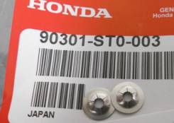 Клип крепления эмблемы Honda 90301ST0003. Honda: Jazz, Torneo, Civic Hybrid, CR-V, Insight, Airwave, Stream, Partner, Domani, FR-V, Crossroad, Avancie...