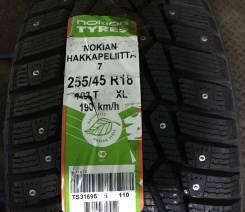 Nokian Hakkapeliitta 7. Зимние, шипованные, 2013 год, без износа, 4 шт