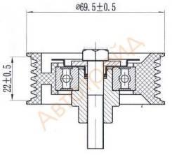 Обводной ролик приводного ремня PEUGEOT BOXER/FIAT DUCATO/CITROEN JUMPER/FORD TOURNEO/TRANSIT 2,2 06 SAT ST-1609010680