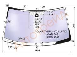 Стекло лобовое в клей VOLKSWAGEN TIGUAN 2007- XYG SOLAR-TIGUAN-VCS LFW/X