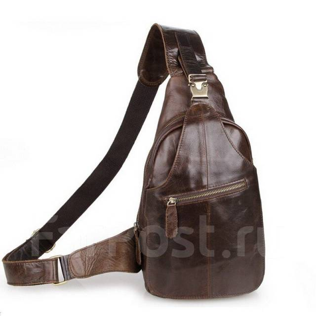 Рюкзак-сумка кожаный на одной лямке рюкзаки выживания ютьюб