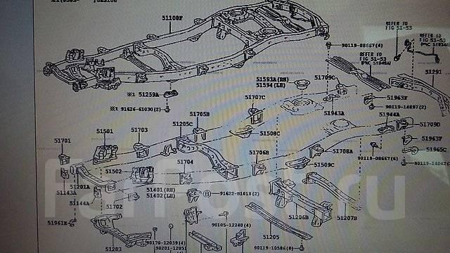 Подушка кузова. Lexus LX470, UZJ100 Toyota Land Cruiser, HDJ101, HDJ101K, HZJ105, UZJ100, UZJ100L, HDJ100L, FZJ100, UZJ100W, FZJ105, HDJ100 Двигатели...