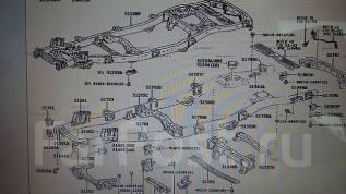 Подушка кузова. Toyota Land Cruiser, HDJ101, UZJ100W, UZJ100, HDJ101K, UZJ100L Lexus LX470, UZJ100. Под заказ