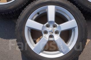 225/55R18 Зимние шины с литыми дисками Mitsubishi. Без пробега по РФ. 7.0x18 5x114.30 ET38 ЦО 67,0мм.
