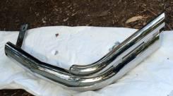 Боковая защита заднего бампера , хром уголки d76/42 для Трейлблейзера. Chevrolet TrailBlazer