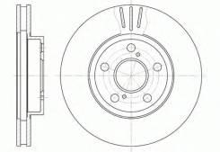 Диск тормозной. Infiniti M35 Infiniti FX50 Infiniti FX35 Двигатели: VQ35DE, VQ35HR. Под заказ