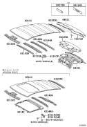 Крыша. Toyota Camry, ACV40, AHV40, GSV40, ACV45 Двигатели: 2GRFE, 2AZFE, 2AZFXE. Под заказ