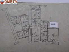 5-комнатная, улица Тунгусская 44. Третья рабочая, проверенное агентство, 96 кв.м. План квартиры